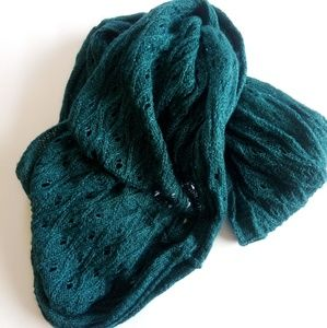 Green Knitted Infinity Scarf